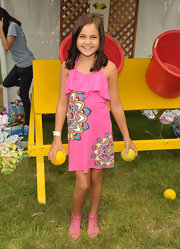 Bailee Madison matched her pink dress with a pair of pink gladiators.