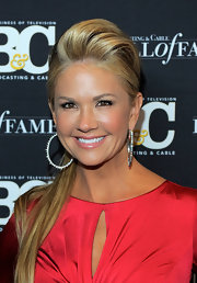 Nancy O'Dell wore her hair in a seriously sexy ponytail at the 21st Annual Broadcasting & Cable Hall of Fame awards.