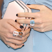 Constance Wu's black mani added a goth touch.