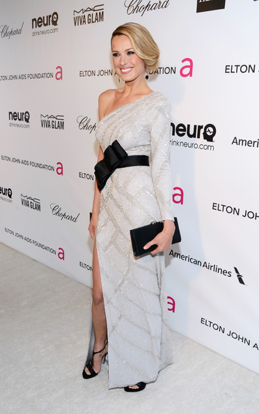 Petra Nemcova Wore Ralph and Russo at Elton John's 2013 Oscars Party