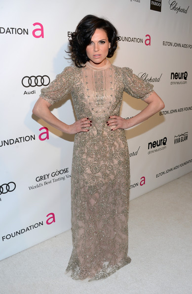 Lana Parrilla at Elton John's 2013 Oscars Party