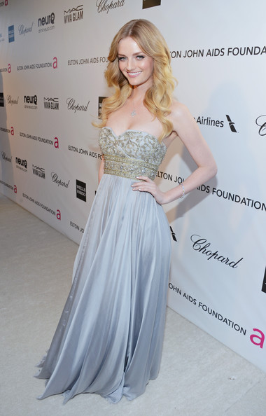 Lydia Hearst at Elton John's 2013 Oscars Party
