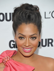 La La Anthony wore her hair in an elegant pompadour when she attended the Glamour Women of the Year Awards.