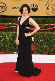 For the SAG Awards, Julie Lake donned an Old Hollywood-inspired Lorena Sarbu gown, given a modern twist with the addition of side cutouts.