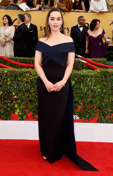 In Donna Karan At The SAG Awards, 2015