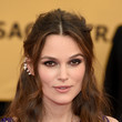 Keira Knightley's Ethereal Half Updo and Brown Smudgy Lids