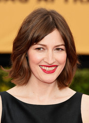 Kelly Macdonald kept it short and sweet with this subtly wavy hairstyle at the SAG Awards.