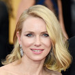 Naomi Watts' Classy Side Sweep and Frosted Lips