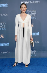 Carly Chaikin finished off her look with a pair of strappy sandals by Sophia Webster.