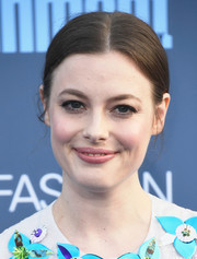 Gillian Jacobs opted for a simple center-parted chignon when she attended the Critics' Choice Awards.