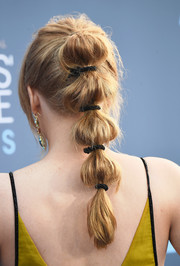 Bryce Dallas Howard looked playfully chic wearing this segmented ponytail at the Critics' Choice Awards.