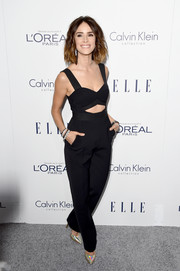 Abigail Spencer looked sassy at the Elle Women in Hollywood Awards in a black Self-Portrait  jumpsuit with a midriff cutout.