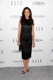 Andie MacDowell looked simply lovely in a fringe-bodice LBD during the Elle Women in Hollywood Awards.