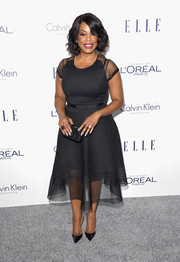 Niecy Nash wowed in a mesh-panel LBD at the Elle Women in Hollywood Awards.