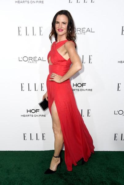 Juliette Lewis in Thai Nguyen Atelier (wearing Schutz shoes)