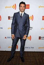 Gilles Marini was impeccably dressed in this smart double-breasted suit at the 23rd Annual GLAAD Media Awards.