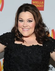 Brooke Elliot styled her brunette hair in sweet bouncy curls for the 2012 GLAAD Media Awards.