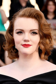 Shannon Purser showed off a vintage-glam bob at the 2017 SAG Awards.