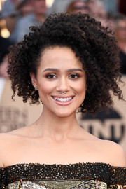 Nathalie Emmanuel sported a super-cool afro at the SAG Awards.