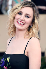 Laura Carmichael sported a messy curly 'do at the SAG Awards.