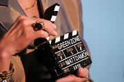 Patty McCormack showed off her support for actor Matt Damon at the Cinematheque Honors by donning a crystal embellished box clutch with his name on it.
