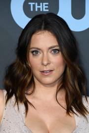Rachel Bloom looked stylish with her shoulder-length waves at the 2019 Critics' Choice Awards.