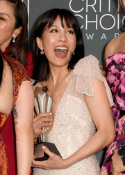 Constance Wu flaunted an elegant diamond ring by Lorraine Schwartz at the 2019 Critics' Choice Awards.