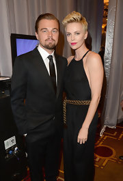 Leonardo DiCaprio kept it classic with a black suit and a solid tie at the GLAAD Media Awards.