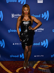 Laverne Cox's LBD had a bit of an edge to it with it's leather material and sleeveless design.