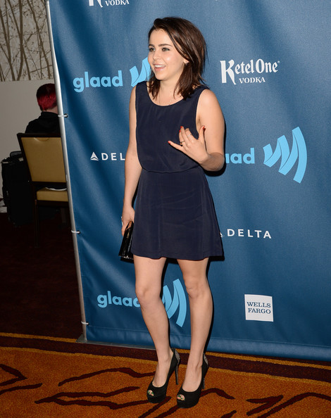 Mae Whitman at the 24th Annual GLAAD Media Awards 2013 ...