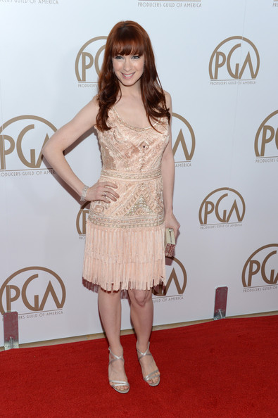 Felicia Day in Peach Fringe