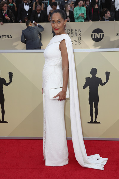 More Pics of Tracee Ellis Ross Red Lipstick (1 of 5) - Tracee Ellis Ross Lookbook - StyleBistro [red carpet,carpet,clothing,dress,flooring,premiere,shoulder,fashion,gown,joint,arrivals,tracee ellis ross,screen actors guild awards,los angeles,california,the shrine auditorium]