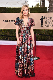 Brie Larson was vibrant and glam in a multicolored sequin gown by Gucci at the 2018 SAG Awards.