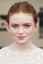 Sadie Sink gathered her hair into a simple braid for the 2018 SAG Awards.