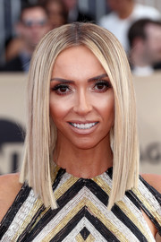 Giuliana Rancic showed off a super-sleek graduated lob at the 2018 SAG Awards.
