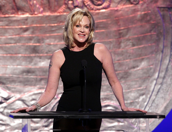 More Pics of Melanie Griffith Heart Tattoo (1 of 13) - Melanie Griffith Lookbook - StyleBistro [melanie griffith,blond,performance,photography,dress,smile,genesis awards - show,genesis awards,beverly hilton hotel,beverly hills,california]