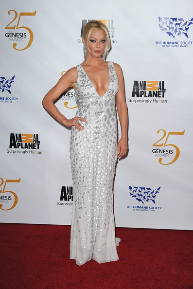 Charlotte was a sparkling beauty in a white and silver evening gown at Animal Planet's Genesis Awards.