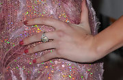 Stephanie Pratt opted for sparkling pink nail polish to match her shimmering gown.