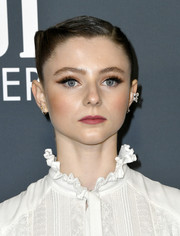 Thomasin McKenzie styled her hair into a twisted updo for the 2020 Critics' Choice Awards.