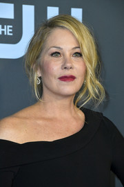 Christina Applegate looked glamorous with her loose bun at the 2020 Critics' Choice Awards.