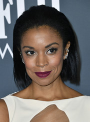 Susan Kelechi Watson wore her hair in a brushed-back bob at the 2020 Critics' Choice Awards.