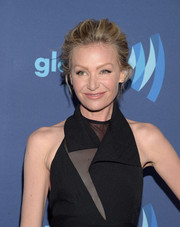 Portia de Rossi was all about relaxed glamour with this loose updo at the GLAAD Media Awards.