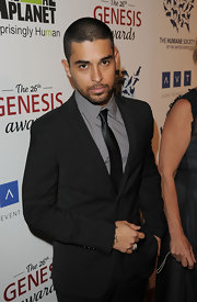 Wilmer Valderama opted for a plain satin tie at the Genesis Awards.