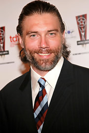 Anson Mount made a subtle statement with an eye-catching striped tie at the 26th Annual Lucille Lortel Awards.