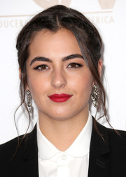 Alanna Masterson wore her hair in a gorgeous braided updo that went with her look completely.