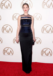 Judy Greer wore a fun gown with sheer sequined panels to the 26th Annual Producers Guild Of America Awards.