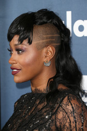 Keke Palmer got majorly punky with this mohawk for the GLAAD Media Awards.
