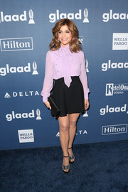 Paula Abdul pulled her look together with rhinestone-embellished platform sandals.