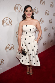 America Ferrera was sweet and glam in a strapless black-and-white polka-dot dress by Alexia Maria at the Producers Guild of America Awards.