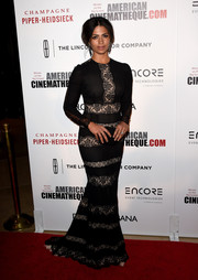 Camila Alves was the picture of classic elegance in a black lace-panel gown by Dolce & Gabbana during the American Cinematheque Award.